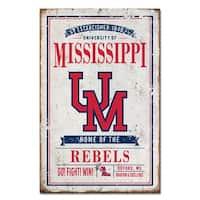 University of Mississippi Vintage Tin Sign