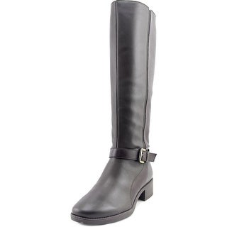 Easy Spirit Nadette Wide Calf Women Round Toe Leather Brown Knee High Boot