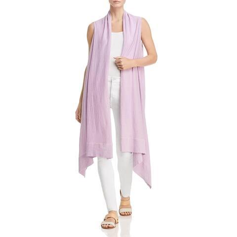 Donna Karan Womens Cardigan Sweater Linen Sleeveless