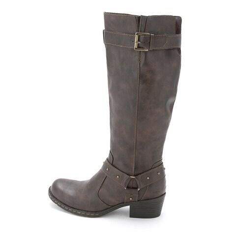B.O.C Womens Mahers Round Toe Mid-Calf Riding Boots