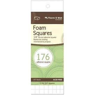 "3D Foam Squares-White .25"" 176/Pkg - White"