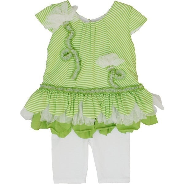 Isobella & Chloe Baby Girls Lime Green Key 2 Pcs Pant Outfit Set 12-24M
