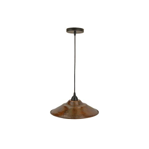 Premier Copper Products L400DB Hammered Copper 13-inch Large Pendant Light