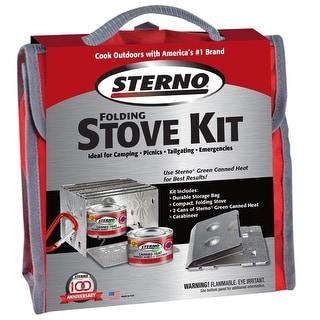 Sterno 70160 Folding Stove Kit, Aluminum