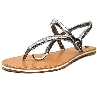 Calvin Klein Alisia Open Toe Leather Thong Sandal