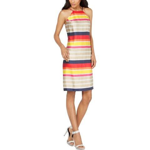 Trina Turk Womens Vanah Halter Dress Striped Cocktai - Multi