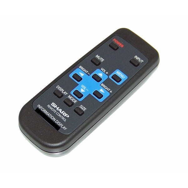 OEM Sharp Remote Control Originally Shipped With: PN455, PN-455, PN455P, PN-455P, PN455RU, PN-455RU