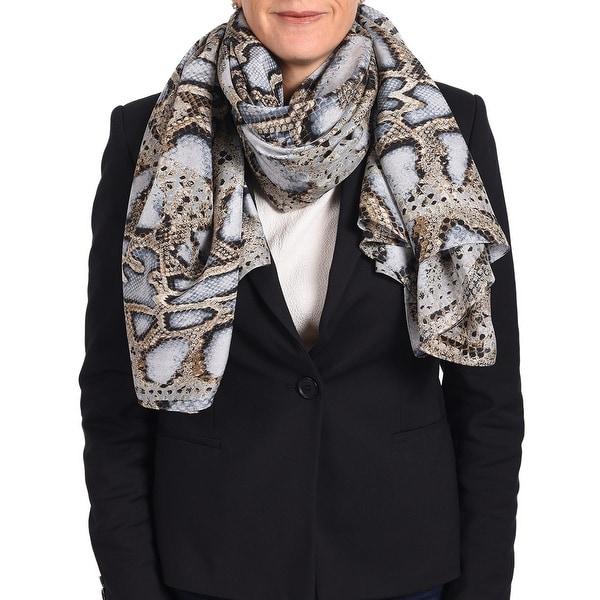 Roberto Cavalli Women's Snake Skin Patterned Silk Scarf