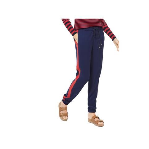 MICHAEL Michael Kors Womens Track Pants Striped High Rise
