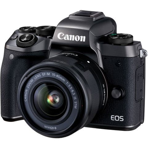 Canon EOS M5 Mirrorless Digital Camera with 15-45mm Lens (International Model)
