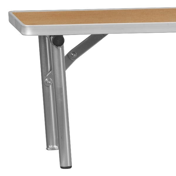 72 X 12 X 12 Birchwood Bar Top Riser With Silver Legs 11 75 W X 72 D X 12 H On Sale Overstock 10867855