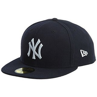 New Era Mens 2017 MLB Game Authentic On Field 59Fifty Cap New York Yankees - NAVY/WHITE