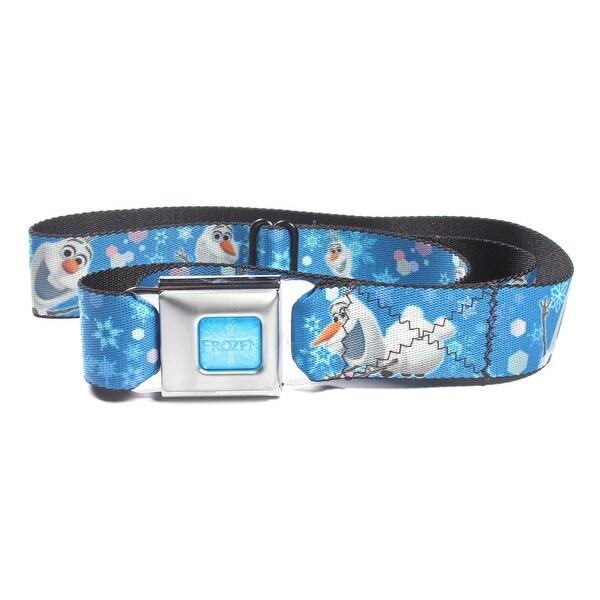 Disney Frozen Snowman Olaf Poses with Snowflakes Seatbelt Belt