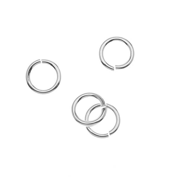 Sterling Silver JUMPLOCK Jump Rings 10mm 14 Gauge (4)