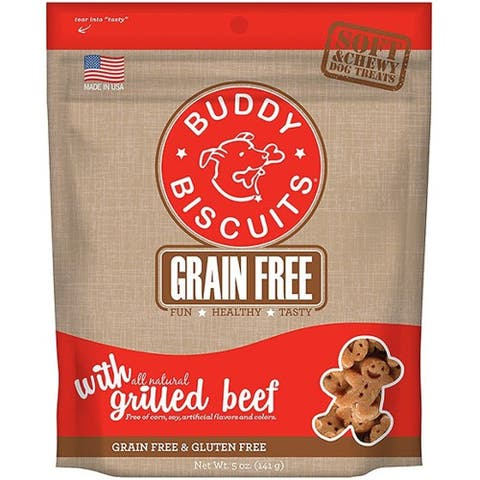 Cloud Star Buddy Biscuits 5 oz Soft & Chewy Dog Treats - Grilled Beef