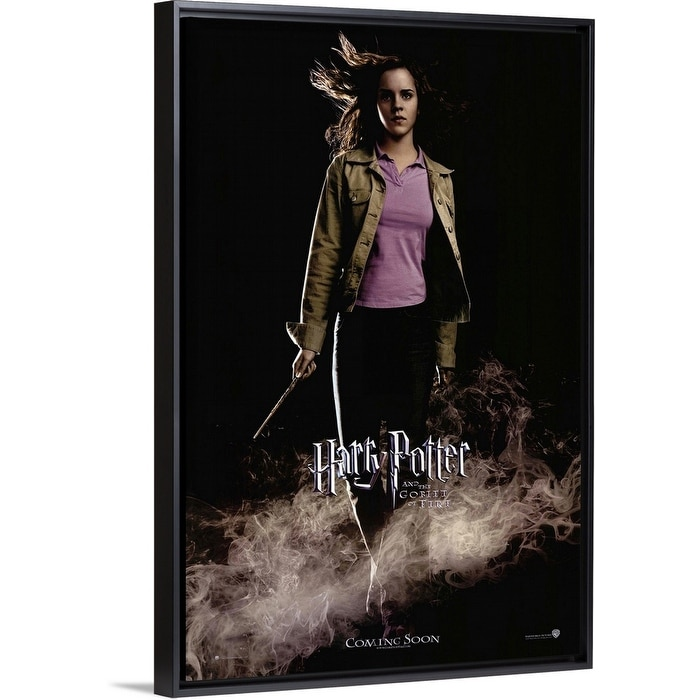 Shop Harry Potter And The Goblet Of Fire 2005 Black Float Frame Canvas Art Overstock 25530027
