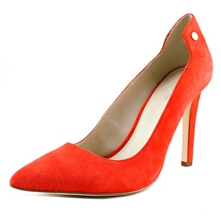 Calvin Klein Basha Women Pointed Toe Suede Heels