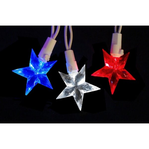 Shop Set of 30 LED Red White & Blue 4th of July Patriotic Star ...
