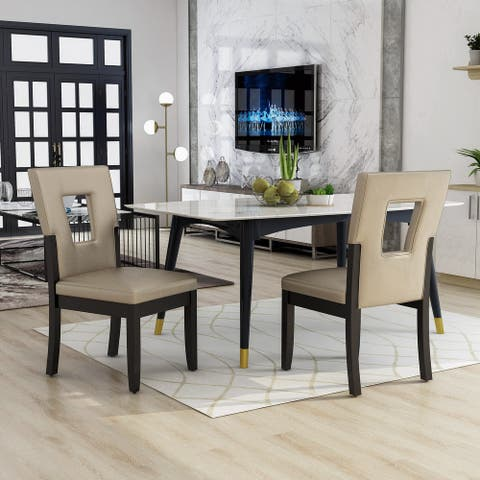 Furniture of America Evantel Keyhole Dining Chairs (Set of 2)
