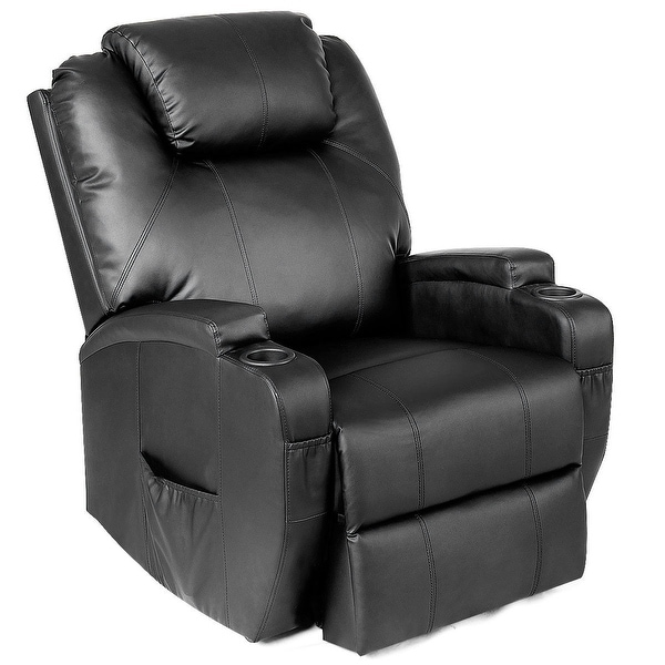 Shop Costway Electric Lift Power Chair Recliner Heated Vibration