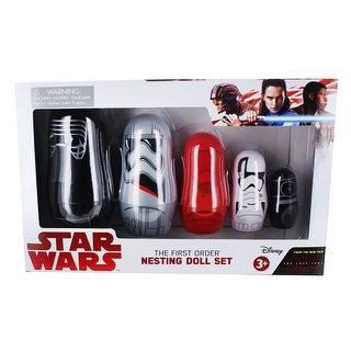 Star Wars: The Last Jedi First Order 5-Piece Plastic Nesting Dolls - multi