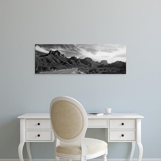 Easy Art Prints Panoramic Image 'Highway Passing Through A Landscape, Big Bend National Park, Texas, USA' Canvas Art