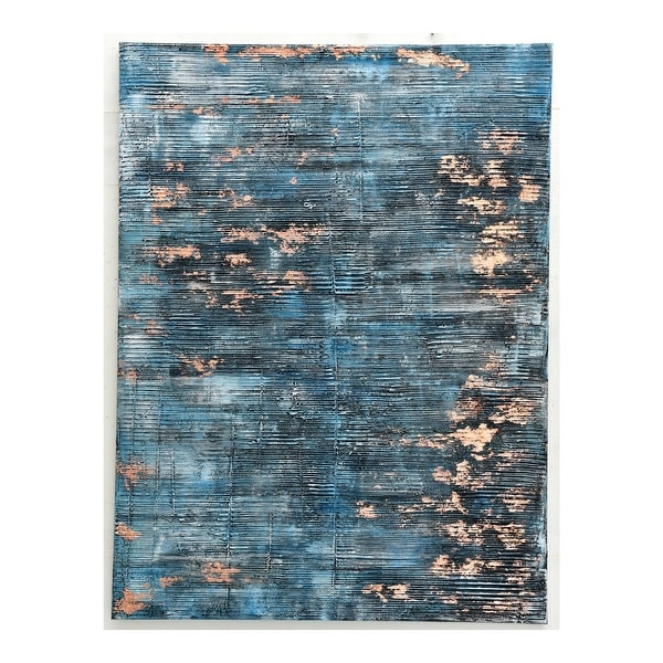 Aurelle Home Modern Ribbed Texture Blue Wall Decor. Opens flyout.