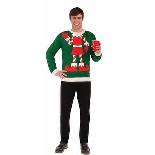 Holiday Elf Adult Ugly Christmas Sweater