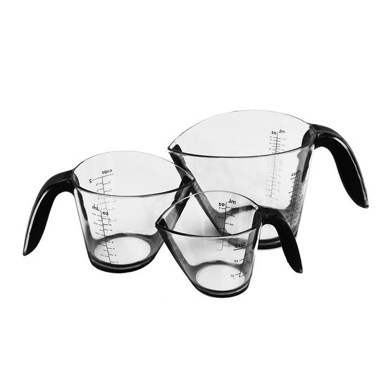 Good Cook Touch 3 Piece Measuring Set - Black/Clear - 7.0 in. x 7.0 in. x 7.0 in.