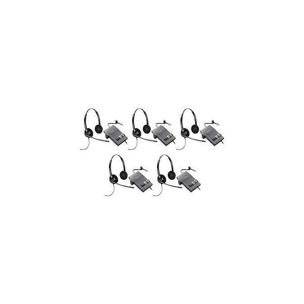 Plantronics EncorePro HW520 with M22 (5-Pack) Binaural Noise-Cancelling Headset