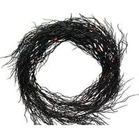 Sienna  K4606E14 Battery Operated Wreath Halloween Decoration, Black