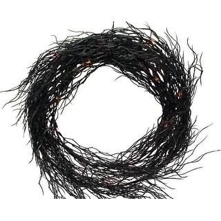 Sienna K4606E14 Battery Operated Wreath Halloween Decoration, Black