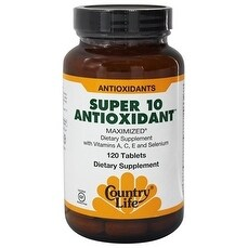 Country Life Vitamins Super 10 Antioxidant (120 Tablets)