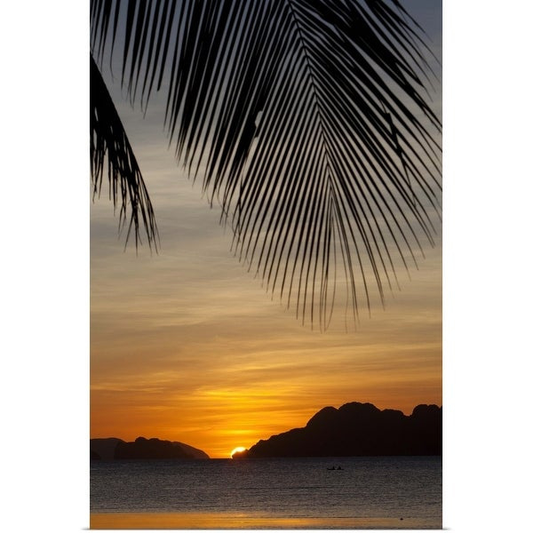 """""""sunset view of tropical islands from the beaches of corong corong"""" Poster Print"""