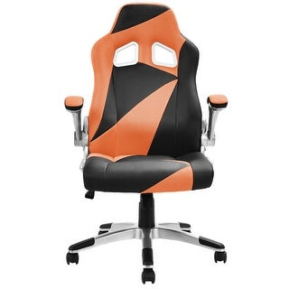 Costway PU Leather Executive Racing Style Bucket Seat Office Chair Desk  Task Computer