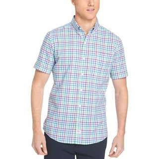 Izod Mens Big & Tall Button-Down Shirt Cotton Plaid - 3xlt