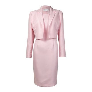 Le Suit Women's Notched Lapel Woven Sheath Dress Suit