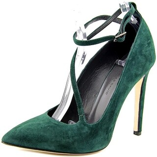 Charles David Jenifer Women Pointed Toe Suede Green Heels