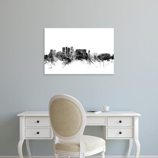 Easy Art Prints Michael Tompsett's 'Cape Town South Africa Skyline' Premium Canvas Art
