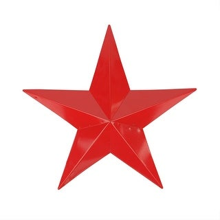 "15"" Scarlet Red Country Rustic Star Indoor/Outdoor Wall Decoration"