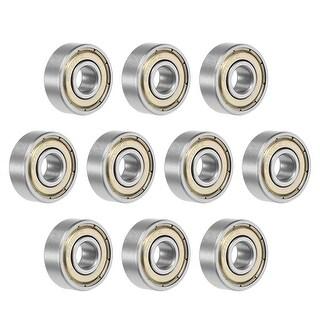 606ZZ Deep Groove Ball Bearing 6x17x6mm Double Shielded Chrome Bearings 10pcs - 10 Pack - 606ZZ (6*17*6)