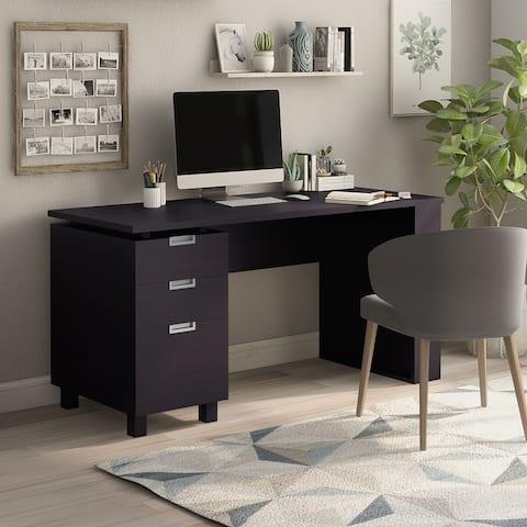 Furniture of America Morr Modern Espresso 59-inch 2-drawer Office Desk