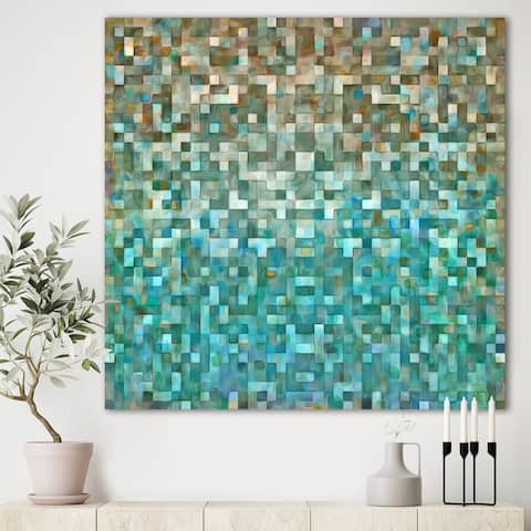 Designart 'Blocked Abstract' Nautical & Coastal Gallery-wrapped Canvas