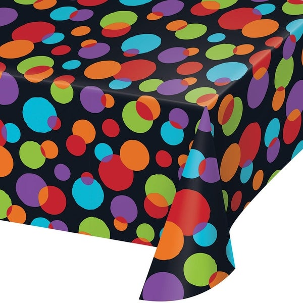 Shop Pack Of 6 Vibrant Colored Polka Dots Printed Plastic Table