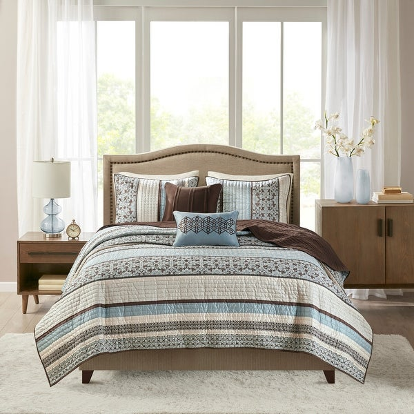 Madison Park Harvard Blue 5-piece Coverlet Set. Opens flyout.