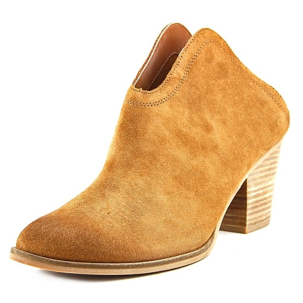 Chinese Laundry Katharine Women Round Toe Suede Tan Mules