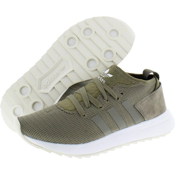 adidas Originals Womens Flashback Mid Winter Running Shoes Suede Knit - Trace Cargo/Trace Cargo/Footwear White