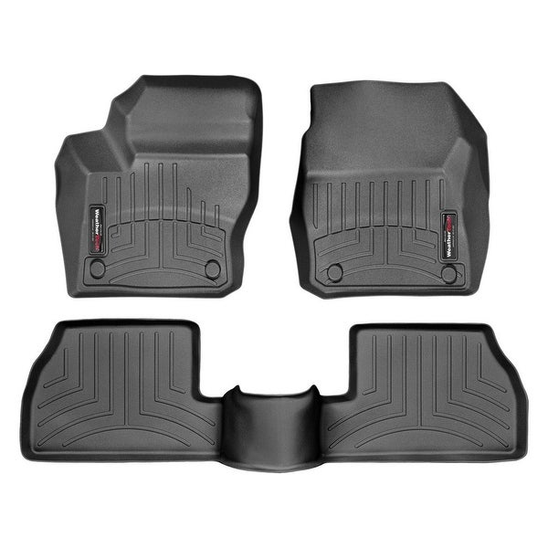 WeatherTech 446461-440752 Black Front & Rear FloorLiner: Ford Focus 2012-14,