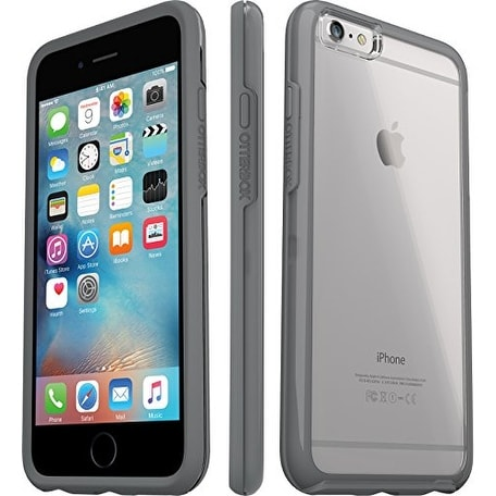 huge selection of dac86 bd503 OtterBox Symmetry Series Clear Case for iPhone 6 Plus/6s Plus Sleek Clear  Grey - clear, grey
