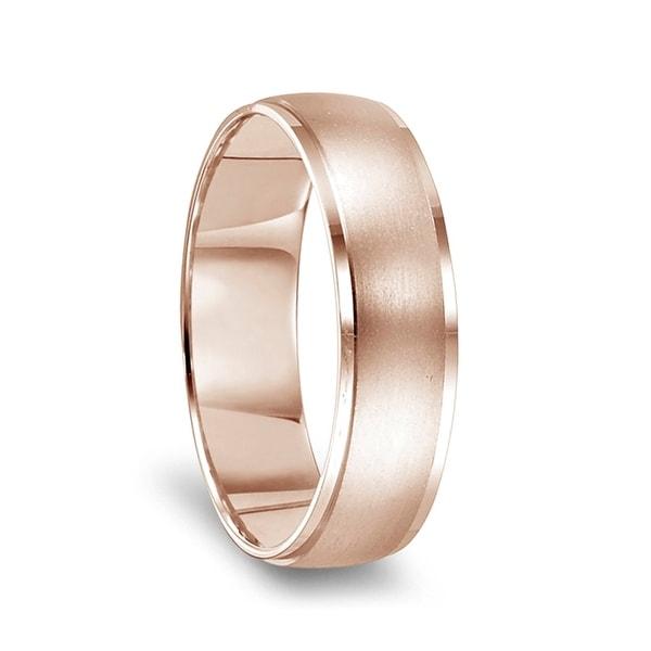 10k Rose Gold Cubic Zirconia Wedding Band Ring For Men